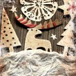 Christmas decoration over grunge background — Stock Photo #24984291