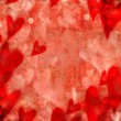 Red valentine hearts abstract background — Stock Photo
