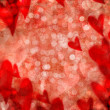 Red valentine hearts abstract background - Foto Stock