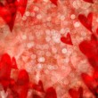 Red valentine hearts abstract background - Stock Photo