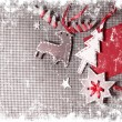 Christmas decoration over grunge background - Stock Photo