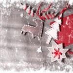 Christmas decoration over grunge background — Stock Photo #24985485