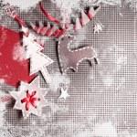 Christmas decoration over grunge background — Stock Photo #24985493