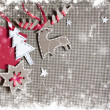 Christmas decoration over grunge background — Stock Photo #24985503