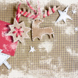 Stock Photo: Christmas decoration over grunge background