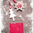 Christmas decoration over grunge paper background — Stock Photo #24985529