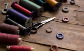 Old sewing accessories — Stock Photo