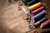 旧缝纫机配件 — 图库照片