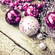 Pink Christmas balls — Stock Photo #35724007