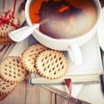 Cookies, books and tea — Stock Photo #35724269