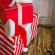 Red gift boxes — Stock Photo