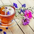 Herbal tea with flowers — Foto Stock