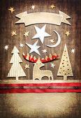 圣诞明信片 — 图库照片