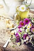 Cam fincan taze sağlıklı bitki çayı — Stok fotoğraf