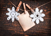 Paper snowflakes background — Stock Photo