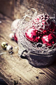 Pink Christmas balls — 图库照片
