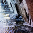 Ice spring river — Stock Photo