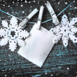 Stock Photo: Paper snowflakes background
