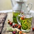 Cups of herbal tea — Stock Photo