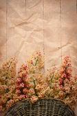 Fondo flores castaño — Foto de Stock