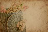 Chestnut flowers in basket — Stock Photo