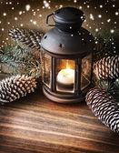 Christmas lantern — Stock Photo