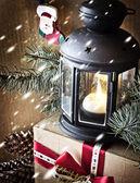圣诞彩灯 — 图库照片