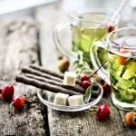 Cups of herbal tea — Stock Photo