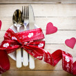 Valentines day table setting — Stock Photo #38707445
