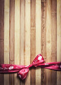 Decorative red ribbon — Stock Photo