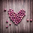 Red apples heart — Stock Photo #38761445