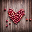 Red apples heart — Stock Photo