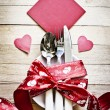 Stock Photo: Valentine's day table setting