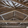 Modern wooden roof - Stock Photo