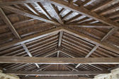 Modern wooden roof — Stock Photo