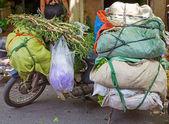 Motrocycle fully loaded — Stock Photo