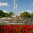 Neptuno fountain — Stock Photo