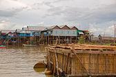 Floating village — Stock Photo