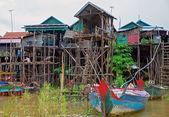 Floating village — Foto de Stock