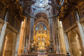 Botafumeiro and altar wide angle — Stock Photo
