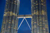 Petronas towers skybridge — Stock Photo