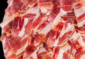 Jabugo ham plate closeup — Stock Photo
