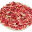 Dry-cured ham slices — Stock Photo #17473355