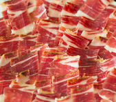 Jabugo ham plate tapas — Stock Photo