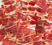 Jabugo ham plate tapas — Stock Photo