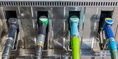 Gas pump nozzles — Stock Photo