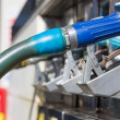 Stock Photo: Gas pump nozzles closeup