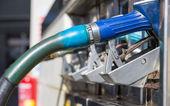Gas pump nozzles closeup — Stock Photo