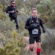 Hard marathon mountain race, climbing - Stock Photo