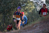Hard mountain race — Stock Photo